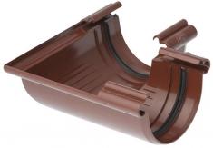 Угол жёлоба 90° ПВХ Элит (цвет коричневый)